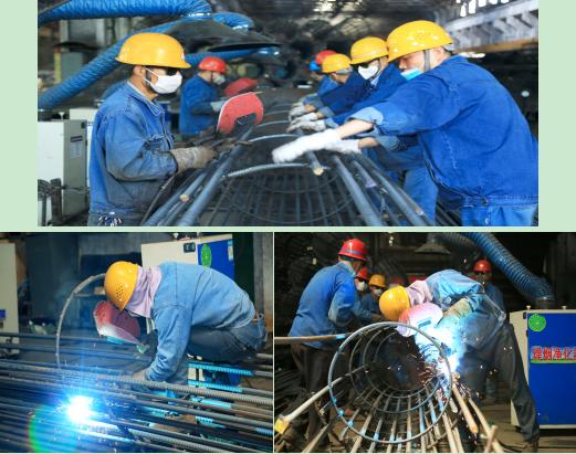 西钢红光物流公司聚力网笼加工勇创产量新高