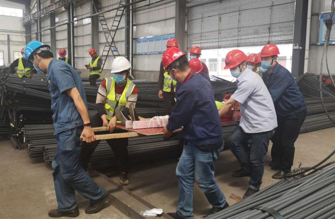 钢加公司开展起重伤害事故应急演练活动